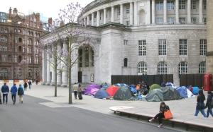 Camp on St Peters Square