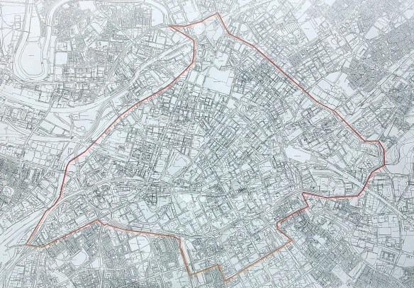 Map of proposed exclusion zone in Manchester City centre